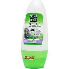 Фитодезодорант шариковый Защита от запаха и влаги ЧИСТАЯ ЛИНИЯ