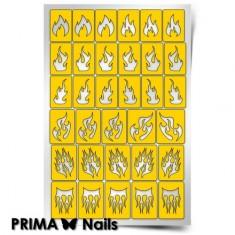 Prima Nails, Трафареты «Пламя»