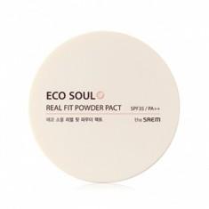 пудра рассыпчатая the saem eco soul real fit powder