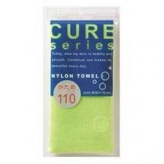мочалка для тела жесткая (зеленая) o:he cure nylon towel hard green