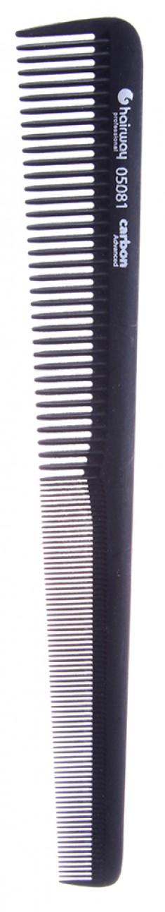 HAIRWAY Расческа Carbon Advance комбинированная конусная 175 мм