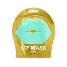 KOCOSTAR Патчи гидрогелевые для губ, c ароматом зеленого винограда / Lip Mask Mint Single Pouch MINT 3 г