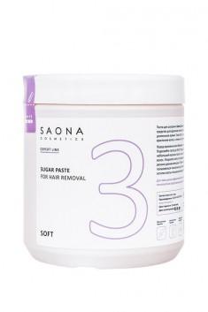 SAONA COSMETICS Паста сахарная мягкая для шугаринга № 3 / SOFT Expert Line 1000 г