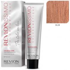 REVLON Professional 8.24 краска для волос, светлый блондин переливающийся медный / RP REVLONISSIMO COLORSMETIQUE 60 мл