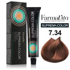 FARMAVITA 7.34 краска для волос, блондин золотисто-медный / SUPREMA 60 мл