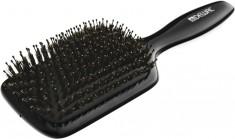 DEWAL PROFESSIONAL Щетка массажная Black лопата деревянная, натуральная щетина, пластиковый штифт, 11 рядов