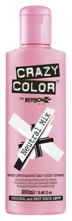 CRAZY COLOR Краска для волос, нейтральный прозрачный / Crazy Color Neutral Mix 250 мл