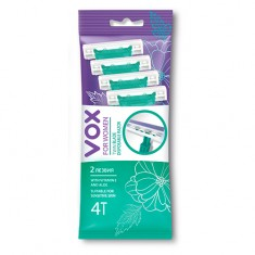 Станок для бритья одноразовый VOX FOR WOMEN 2 лезвия 4 шт