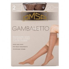 Гольфы женские OMSA GAMBALETTO CLASSICO 20 den Daino 2 пары