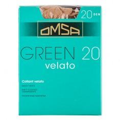 Колготки женские в коробочке OMSA GREEN 20 den caramello р-р 4
