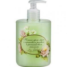 Крем-мыло нежное с персиковым рисовым фисташеовыми маслами Organic Oils Collection Liv Delano