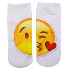 Носки женские SOCKS Big emoji Kiss р-р единый