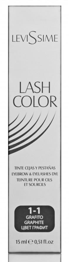 LEVISSIME Краска для бровей и ресниц, № 1.1 графит / Lash Color 15 мл