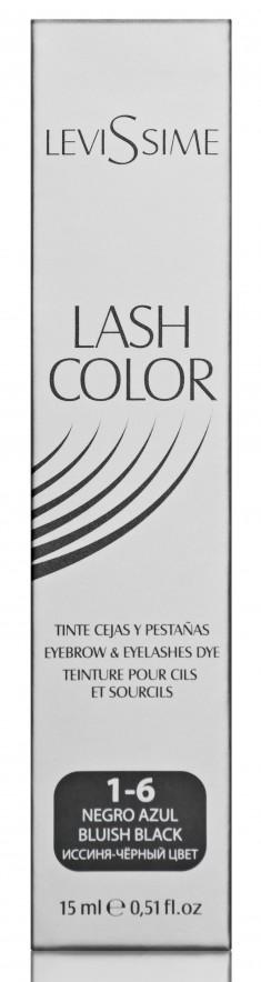 LEVISSIME Краска для бровей и ресниц, № 1.6 иссиня-черный / Lash Color 15 мл