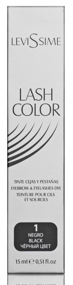 LEVISSIME Краска для бровей и ресниц, № 1 черный / Lash Color 15 мл