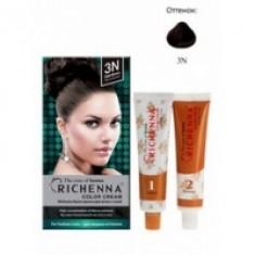 Richenna Color Cream 3 n - Крем-краска для волос с хной, темно-коричневый