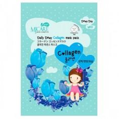 маска тканевая с коллагеном mijin mj care daily dewy сollagen mask pack