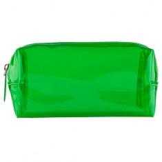 Косметичка LADY PINK TRANSPARENT прямоугольная зеленая