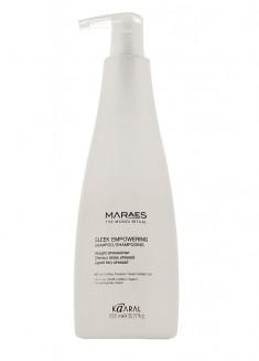 KAARAL Шампунь восстанавливающий для прямых поврежденных волос / MARAES Sleek Empowering Shampoo 1000 мл
