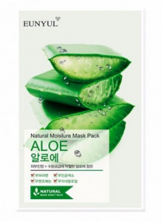 Тканевая маска с алоэ EUNYUL Natural moisture mask pack aloe 23 мл