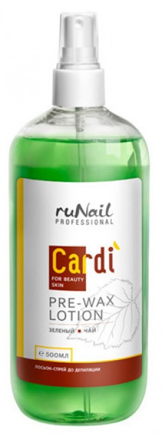 RuNail Лосьон-спрей до депиляции, зеленый чай / Cardi 500 мл