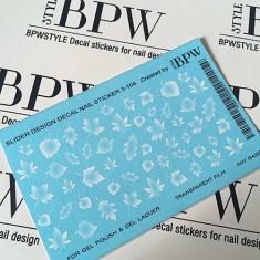 BPW.Style, Слайдер-дизайн «Белые листья» №3d-104, градиент