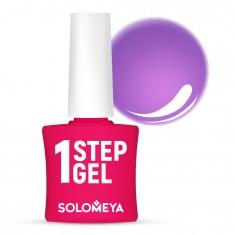 SOLOMEYA Гель-лак однофазный для ногтей, 30 фиалка / One Step Gel Violet 5 мл