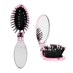 Расческа с зеркалом складная LADY PINK фиолетовая
