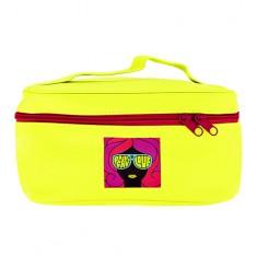 Косметичка-чемоданчик для путешествий LADY PINK неон желтый