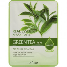Тканевая маска с зеленым чаем Juno Real Essense Mask Pack Green Tea 25мл