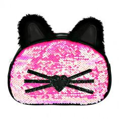 Косметичка LADY PINK Котик с ушками малиновая
