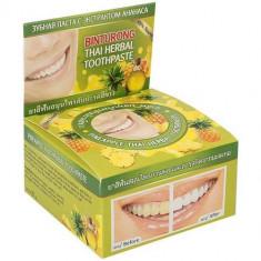 Зубная паста с экстрактом ананаса Pineapple Thai Herbal Toothpaste BINTURONG