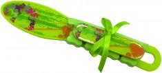 DEWAL BEAUTY Набор педикюрный, салатовый (терка, пилка, разделитель для пальцев)