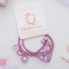 Резинка для волос Санса четыре шарика (набор 2 шт) микс QUEEN FAIR