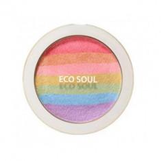 Румяна-хайлайтер компактные THE SAEM Eco Soul Prism Blusher 8г