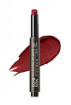 Помада для губ матовая THE SAEM Eco Soul Kiss Button Lips Matte 08 Red Pepper 2г