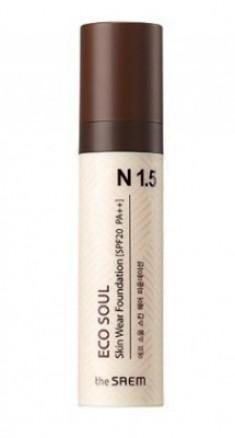 Тональная основа THE SAEM Eco Soul Skin Wear Foundation N1.5 Warm tone 30мл