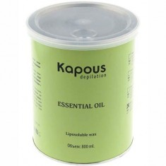 Жирорастворимый воск для депиляции в банке с эфирным маслом петит-грея Kapous Professional