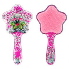 Расческа для волос MISS PINKY малиновая с блестками LADY PINK