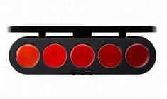 Палетка блесков и помад, 5 цветов Make-Up Atelier Paris №09 красная гамма, 10г