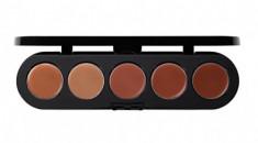 Палетка блесков и помад, 5 цветов Make-Up Atelier Paris №03 песочно-розовая гамма, 10г