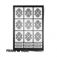 Prima Nails, Трафареты «Уголки», белые