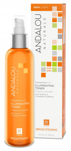 ANDALOU NATURALS Тоник для восстановления цвета кожи Клементин и витамины 178 мл