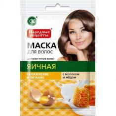 Маска для волос Яичная с молоком и медом FITO КОСМЕТИК