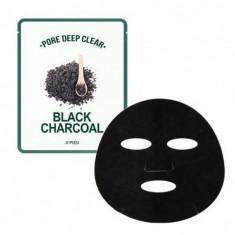 маска для лица тканевая с древесным углем для сужения пор a'pieu pore deep clear black charcoal mask