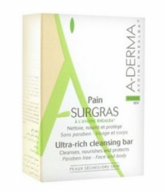 Мыло твердое ультраобогащенное косметическое A-DERMA Ultra-Rich Cleansing Bar 100 г