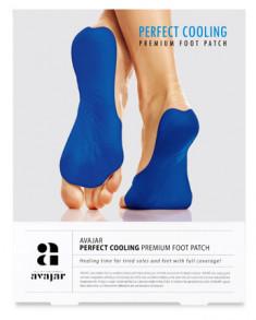 AVAJAR Патч охлаждающий для ступней ног / Perfect Cooling Premium Foot Patch 5 пар