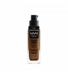 NYX PROFESSIONAL MAKEUP Тональная основа Can't Stop Won't Stop Full Coverage Foundation - Warm Mahogany 167