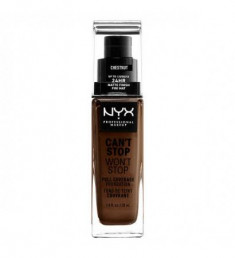 NYX PROFESSIONAL MAKEUP Тональная основа Can't Stop Won't Stop Full Coverage Foundation - Chestnut 23