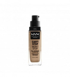 NYX PROFESSIONAL MAKEUP Тональная основа Can't Stop Won't Stop Full Coverage Foundation - Classic Tan 12
